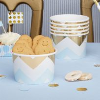 Pattern Works Blue Chevron Treat Tubs (8)
